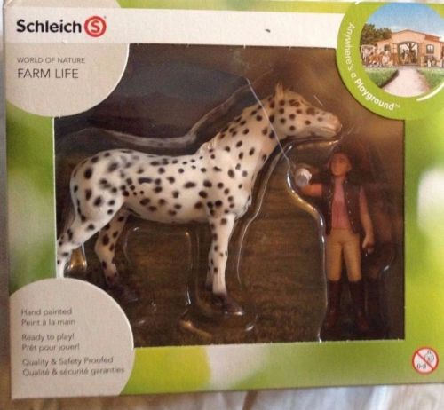 SCHLEICH WORLD OF NATURE FARM LIFE HORSE  SETS HORSE TOYS & FIGURES SETS