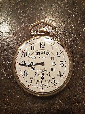 Elgin 1924 Railroad Grade 478 21j Canadian Dial Pocket Watch Running Serviced
