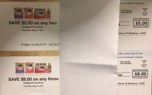 Enfagrow Formula $13 Savings Exp 5/31/17 lot of 2. Fast shipping
