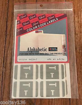500 SMEAD AlphaZ ACCS-T Alphabetical Letters T Gray Color Coded File 67190