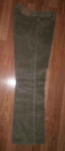 SILVER JEANS sz 34X32 Button Fly GRAY CORDUROY JEANS ~ MADE CANADA - Cotton Poly