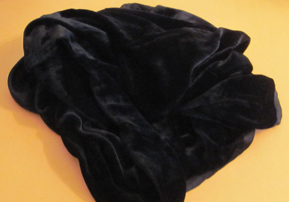 Vintage Soft Silky Black Velvet Fabric 40x48 Doll Millinery Victorian Project