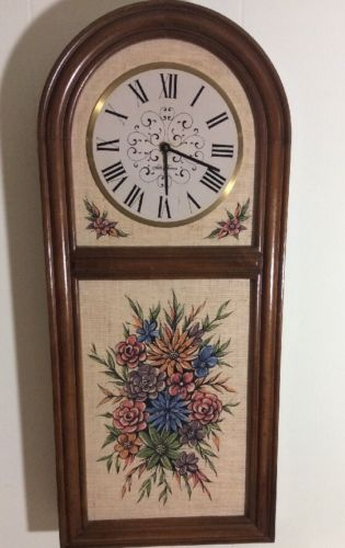 Antique Seth Thomas Hanging Wall Clock Battery Operated 30