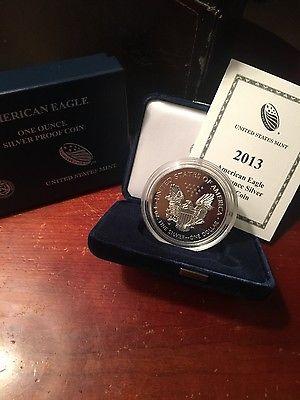 2013w silver eagle proof coa