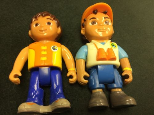 Dora The Explorer Go Diego Action Figure Lot of Two Positionable Rescue Cake Top