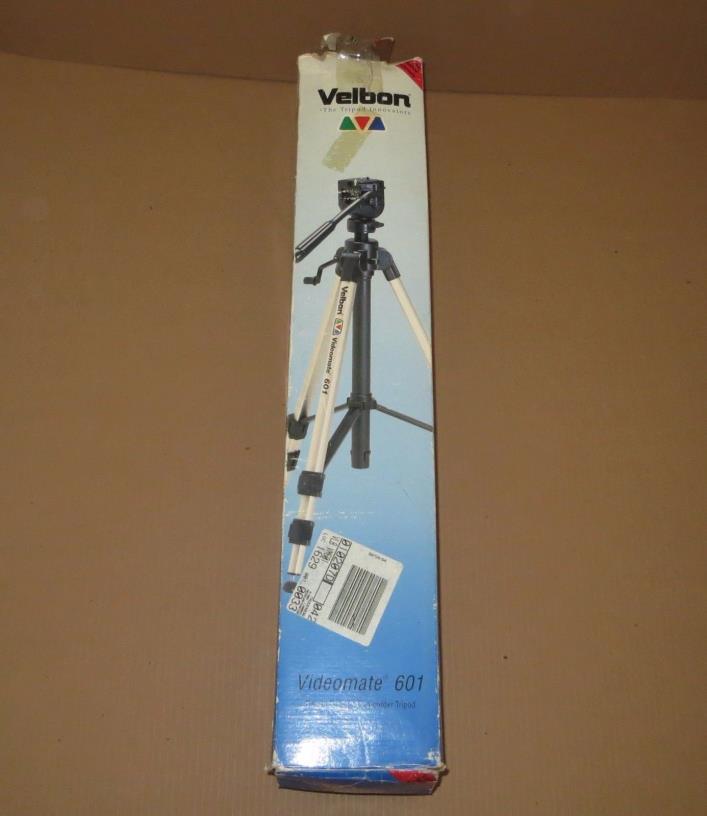 New VELBON Videomate 601 Aluminum Tripod - Tri pie
