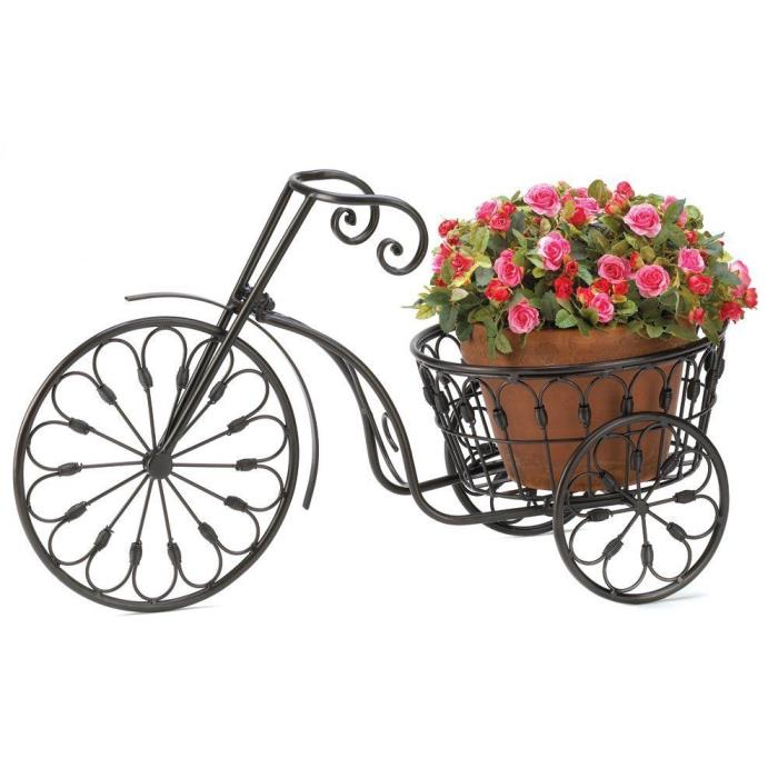 RETRO BICYCLE Planter METAL Vintage PLANT STAND Flower Pot Holder GARDEN DECOR