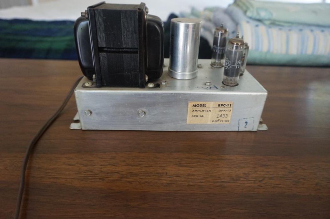 DPA-10 tube stereo amplifier Packard Bell