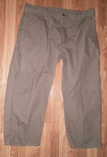 MENS CARHARTT   Size 40X27 Green Carpenter WORK PANTS