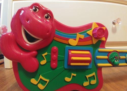 Jakks Pacific Barney Dinosaur Musical Talking Guitar Toy Riff BJ Baby Bop 2007
