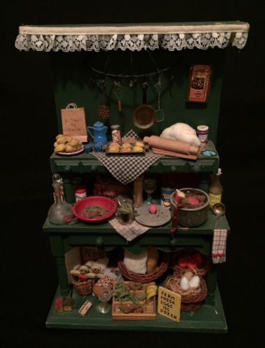 Miniature Kitchen Cupboard - Linens N Things Keepsakes Collection - Rare - Doll