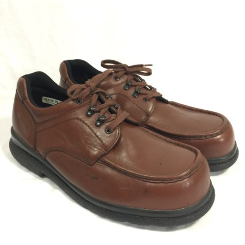 Red Wing Steel Toe Oxford Work Safety Shoes 6659 Mens 12 EEE Slip Oil Resistant
