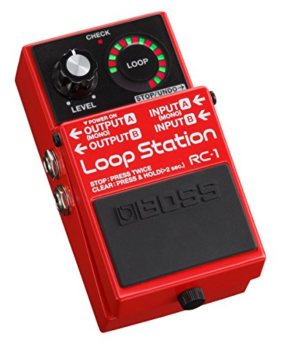 Boss RC-1 Loop Station Guitar Effects Pedal Bundle with Gearlux Instrument