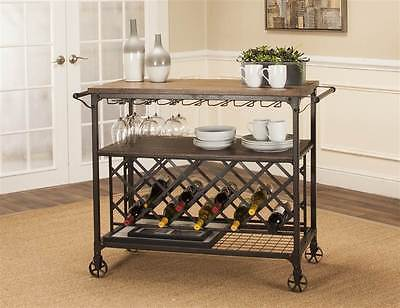 Wine Cart in Black and Brown [ID 3471403]