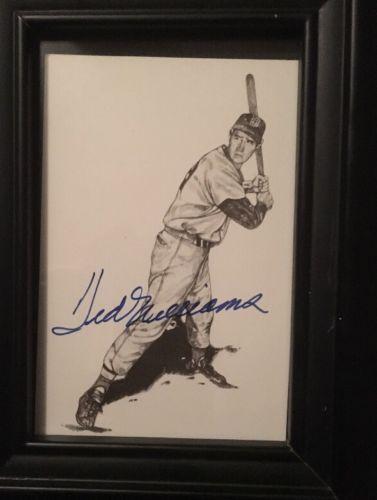 Ted Williams Autographed postcard COA