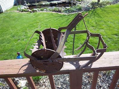 5 tine antique garden farm cultivator tiller ro ho hand plow yard art steampunk