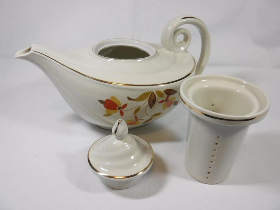 Jewel Tea Autumn Leaf Vintage Aladdin Tea Pot