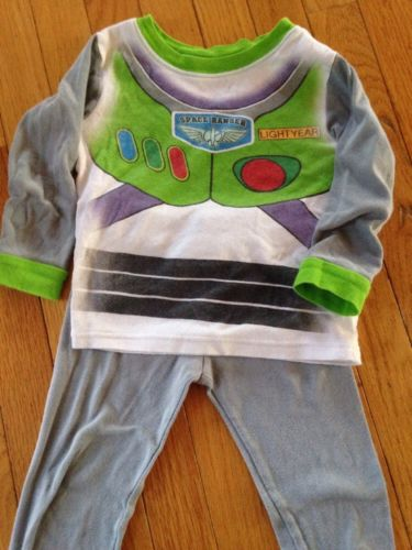 Boys Disney BUZZ LIGHTYEAR TOY STORY pajama set pjs l/s shirt pant size 4 4t