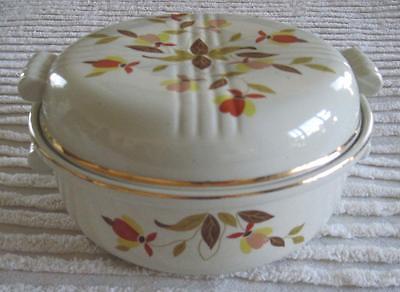 Hall China Autumn Leaf Jewel Tea Two Quart Casserole