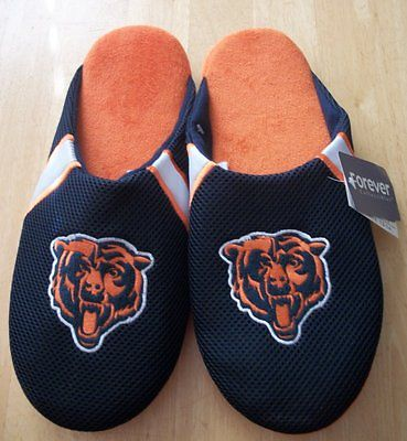 NFL Forever Collectibles Chicago Bears Mens Jersey Mesh Slippers~NWT~Size XL