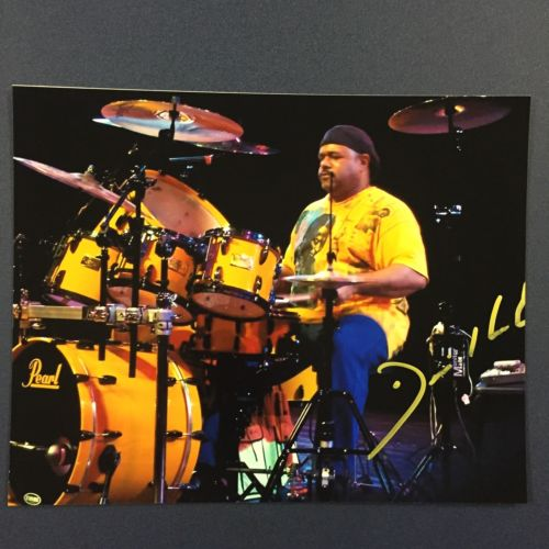 DENNIS CHAMBERS SIGNED 8x10 PHOTO AUTOGRAPHED SANTANA STEELY DAN DRUMMER RARE
