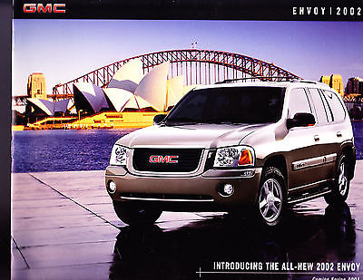 2002 GMC Envoy Factory Original Sales Brochure 10 Pages  Good Condition