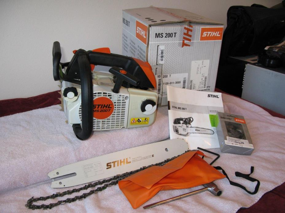 Stihl MS 200T 200 T  Chainsaw - NEW 14 inch bar and 2 chains - Arborist Saw -