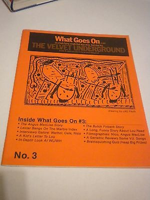VELVET UNDERGROUND WHAT GOES ON MAG RARE JAD FAIR LOU REED ANDY WARHOL NICO NM