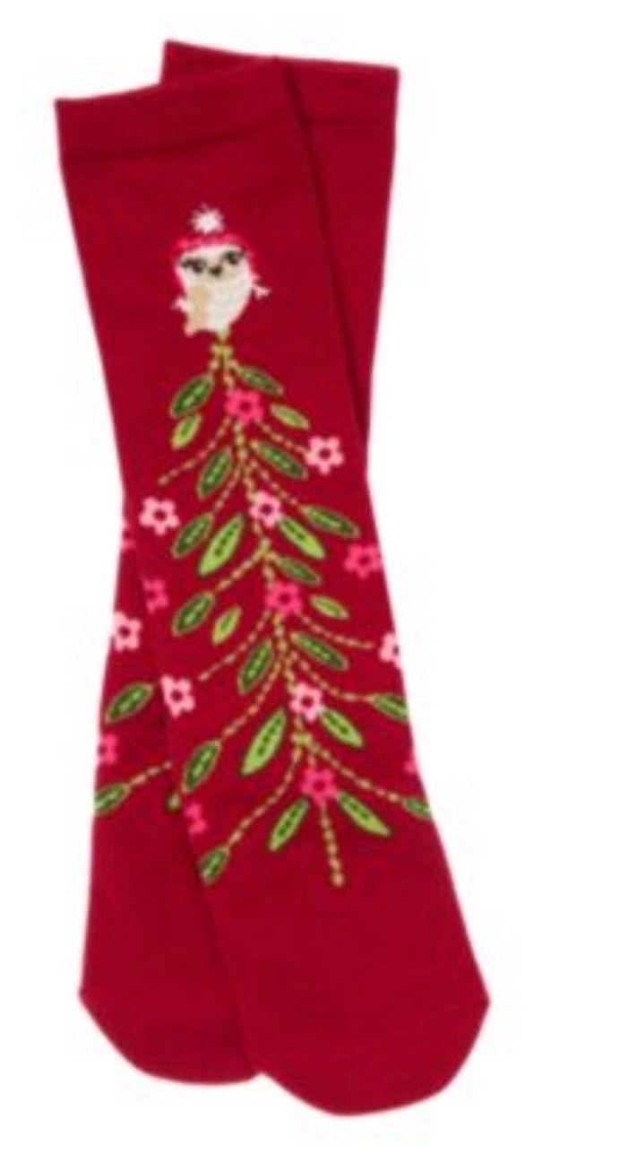 Gymboree Cozy Owl Knee High Socks 3-4 Tree Red Floral Shoe sz 9 10