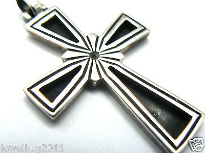 James Avery Retired Large Sterling Silver Cross Pendant Nice Oxidation!