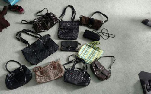 11pc Mixed Lot Womens Purse, Handbags