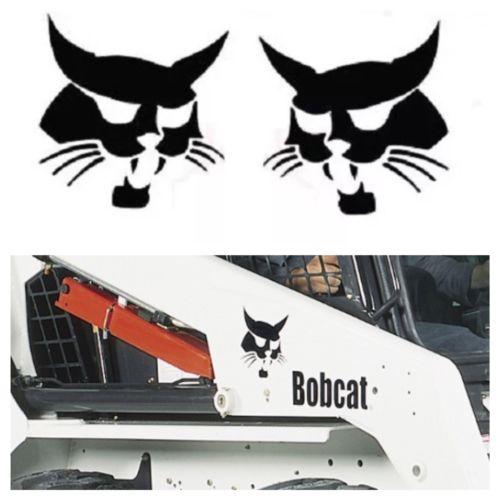 Bobcat Face Head Arm Decal Sticker Kit Word Skid Steer Loader 853 863 864 873