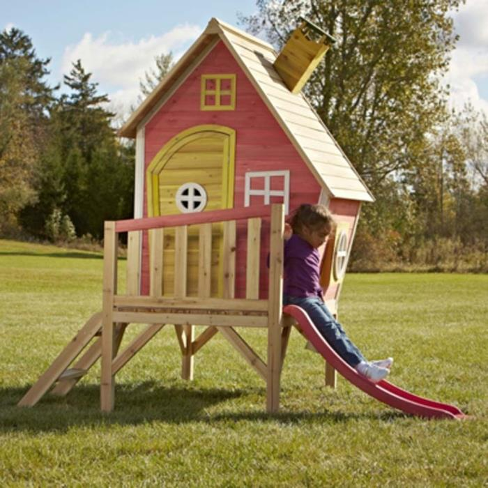 Play House for Kids With Slide Hide Toddler Indoor Outdoor Playing Fun Set New
