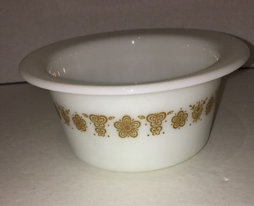 Corelle Butterfly gold bottom to butter dish