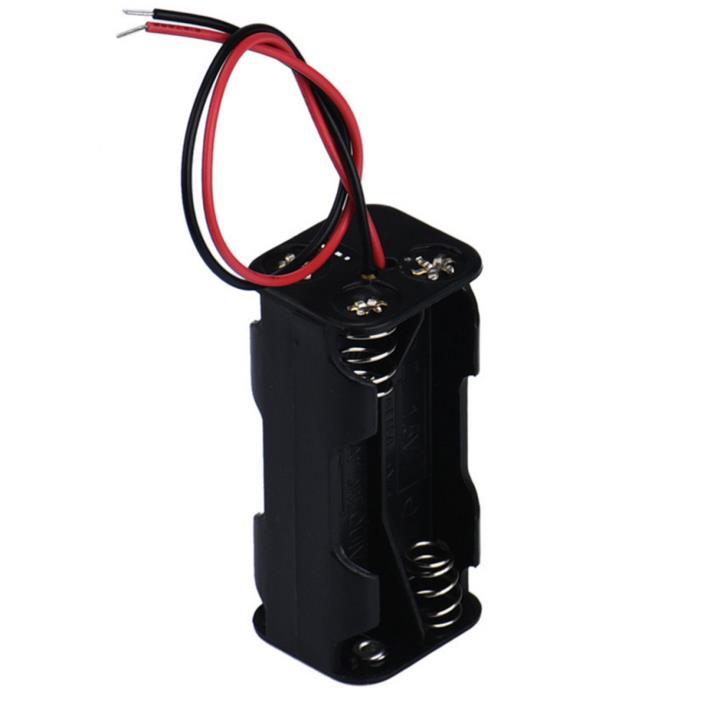 6V Battery Box Dual Slot Holder Case for 4 Packs Standard AAA Batteries
