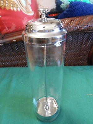 Great Collectible Vintage Glass STRAW HOLDER