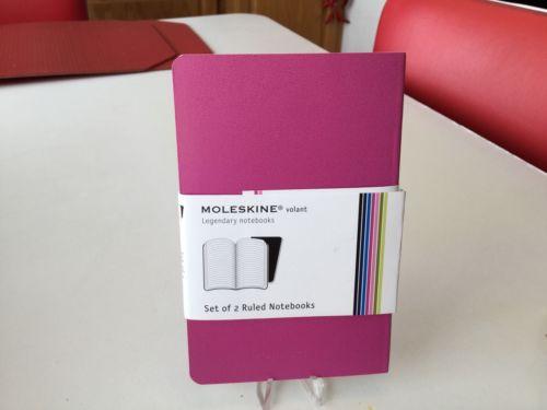 MOLESKINE Volant Ruled Pocket Notebook Pink Magenta Acid Free Paper