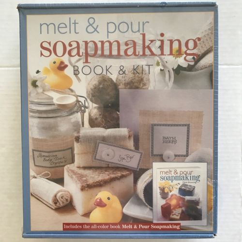 Melt and Pour Soap Making Book and Kit Sealed Supplies Sterling Publishing