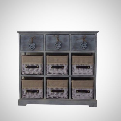 Storage Cabinet Kitchen Organizer Cupboard Pantry Country Style Vintage Stylish