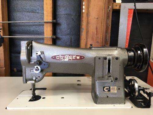 Consew 206RB-2 Big Bobbin Reverse Industrial Walking Foot Sewing Machine