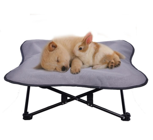 Portable Dog Cot Elevated Pet Bed for Dogs Cat Travel PUPTECK