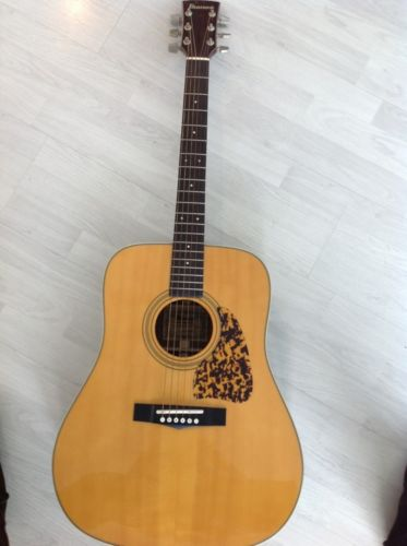 Ibanez Acoustic Vintage Guitar Aw-30 With Case @1979