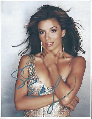 EVA LONGORIA SIGNED  8 x 10 AUTOGRAPH HOT PHOTO COLOR