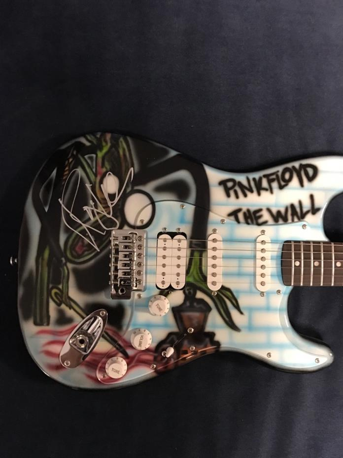 RARE Pink Floyd Airbrushed guitar signed by Roger Waters