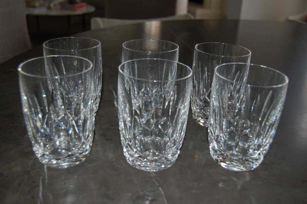 Set 6 Waterford 'Kildare' 12 Ounce Flat Tumblers Barrel Shape Never Used