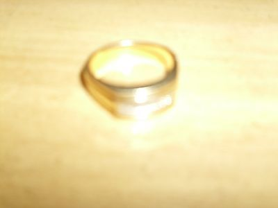 14 k mens ring with baguette diamonds