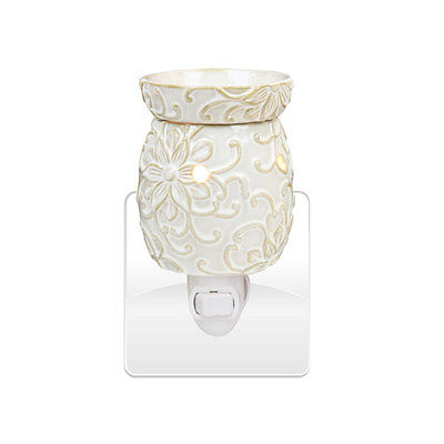 Electric Oil Warmer Flower Tart Burner Night Light  4 SCENTSY & Yankee CANDLE