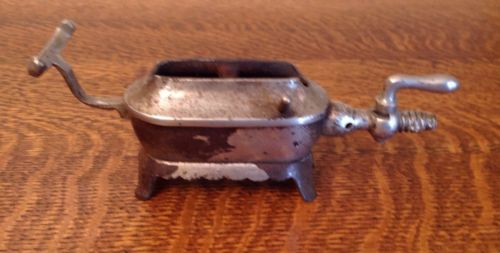 Antique Victorian Gas Sad Iron Stove Heater Toaster Soldering Burner Cast Oven