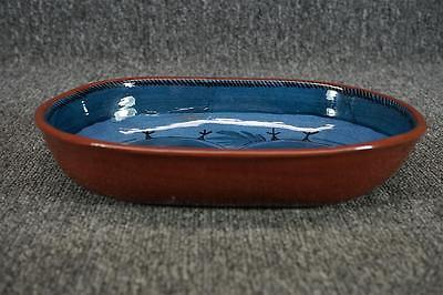 Ceramic Oval Decorative Bowl 10 1/4