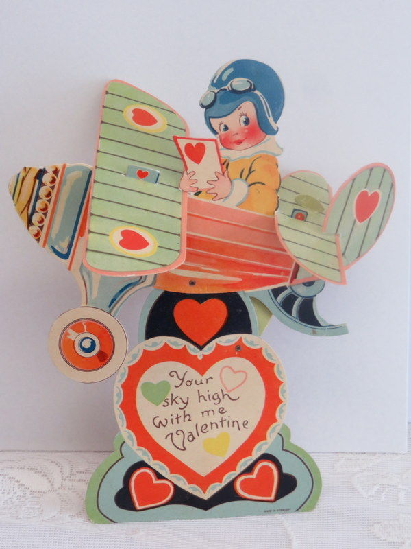 Mechanical Vintage Valentine, Airplane